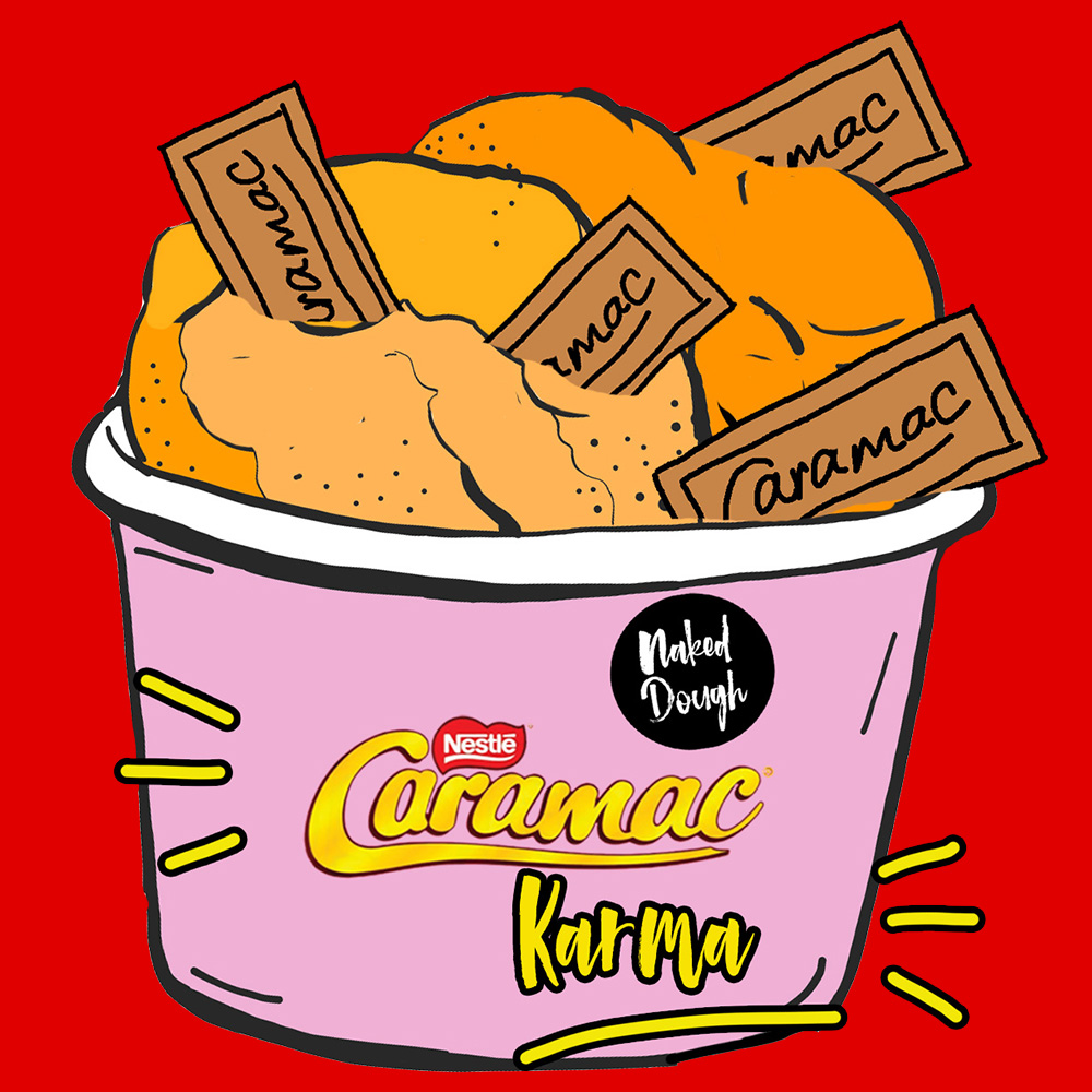 Caramac Karma cookie dough.