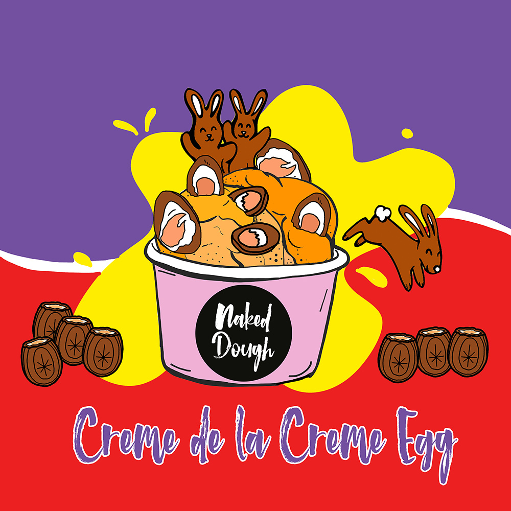 New Easter special edition dough Creme De La Creme Egg.