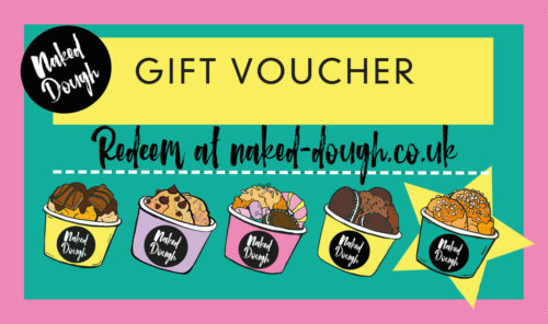 Naked Dough e gift voucher.