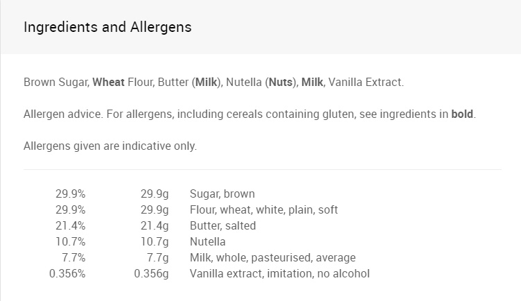 Ingredients & Allergens - Hazel's Nuts.