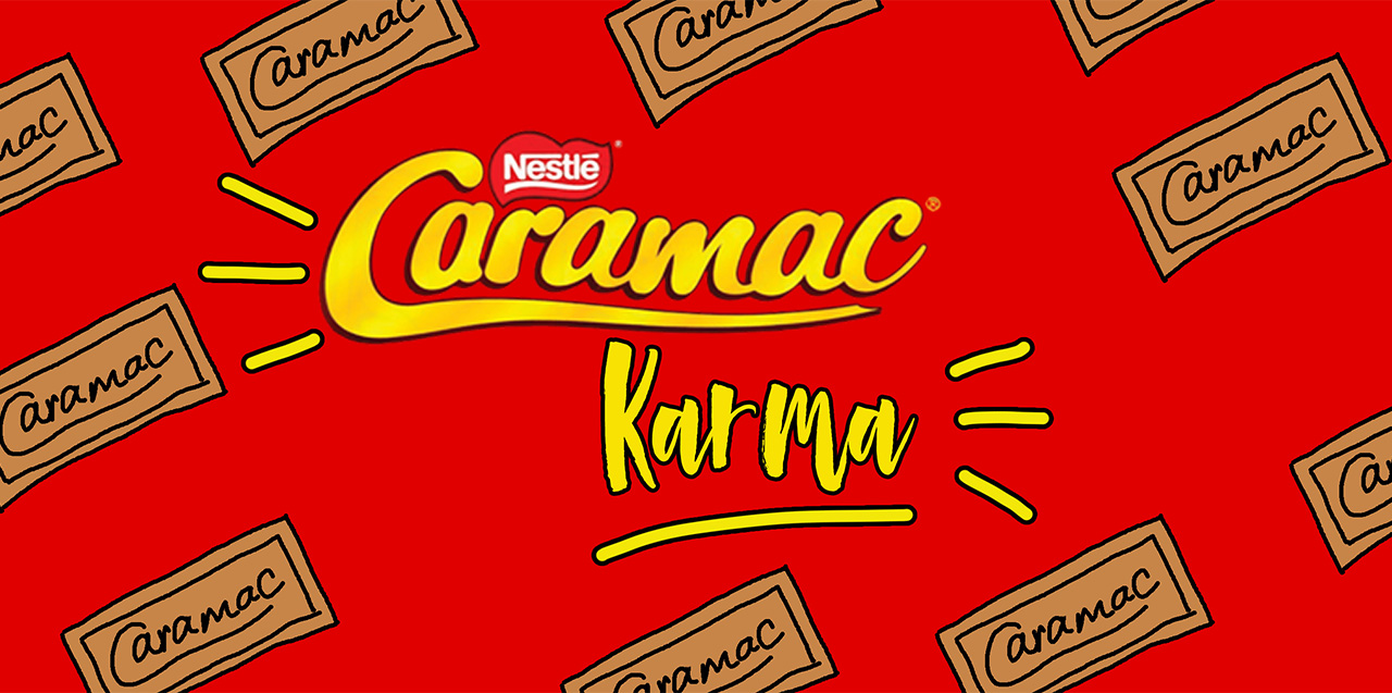 New! Caramac Karma flavour from Naked Dough.