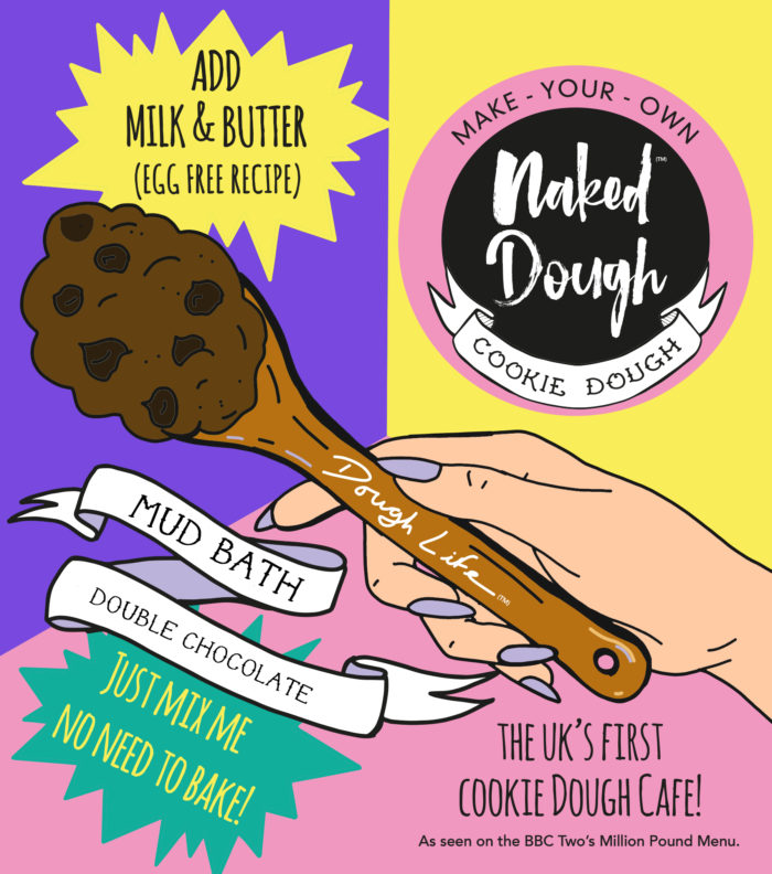 New Make Your Own Naked Dough in Mud Bath flavour pouch.