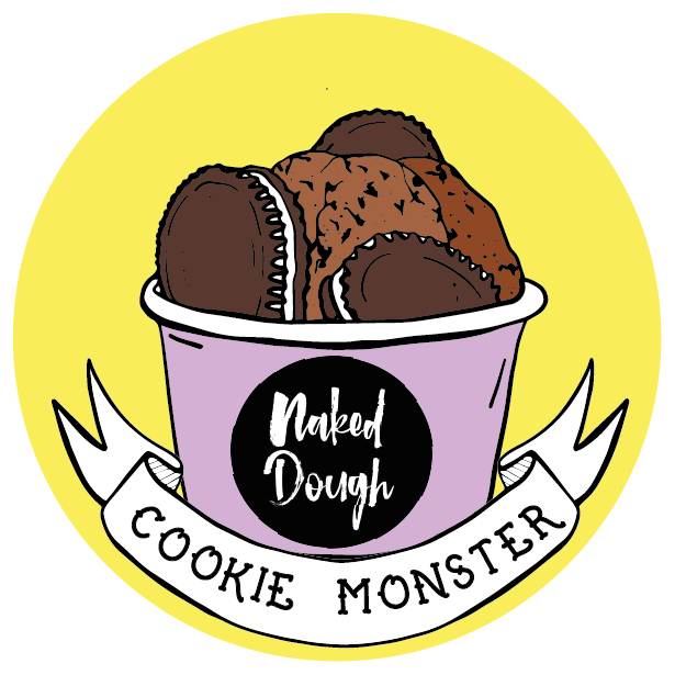 Cookie Monster vegan cookie dough.