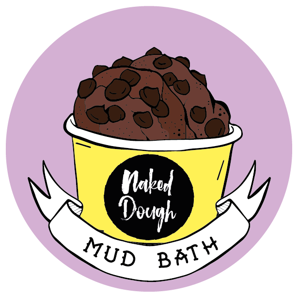 Mud Bath edible cookie dough.