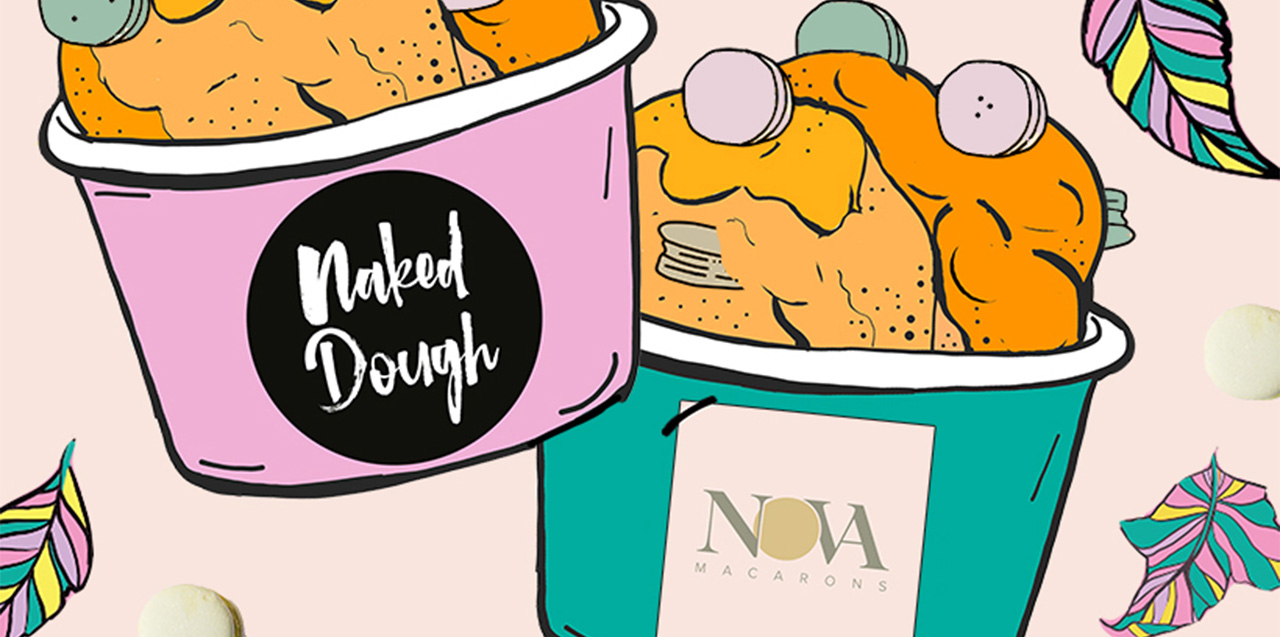 Nova Macaron Cookie Dough by Naked Dough.