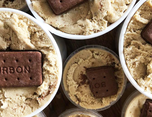 Vegan Bourbon Biscuit Cookie Dough